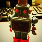 火花を散らすブリキのおもちゃ「SPARKLING ROBO」